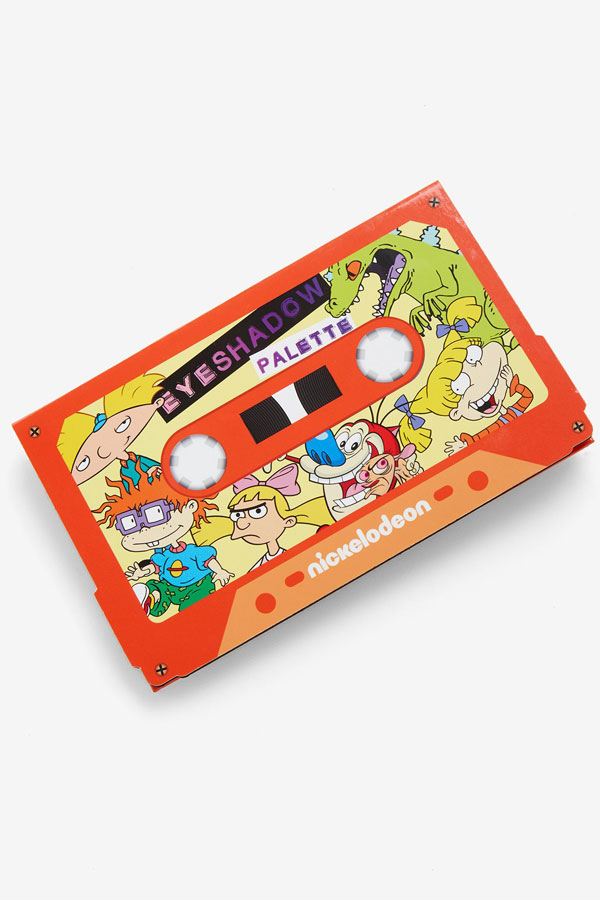 Nickelodeon has released a '90s audio cassette eyeshadow palette