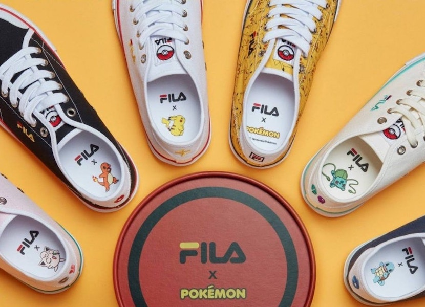 Fila has teamed up with Pokémon for a sneaker collab