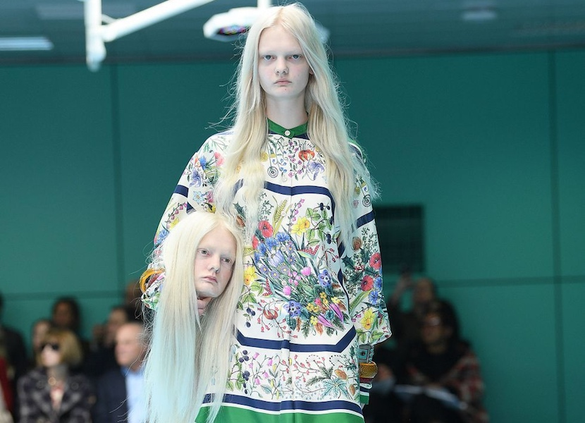 Gucci's cyborg theme is the perfect metaphor for fashion's shallow grasps at meaning