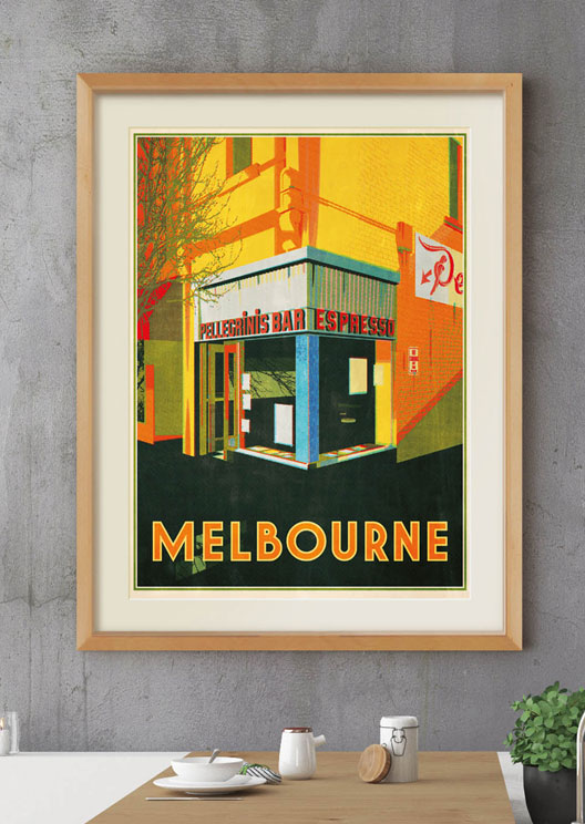 This label creates vintage art prints of Australia's most-loved buildings