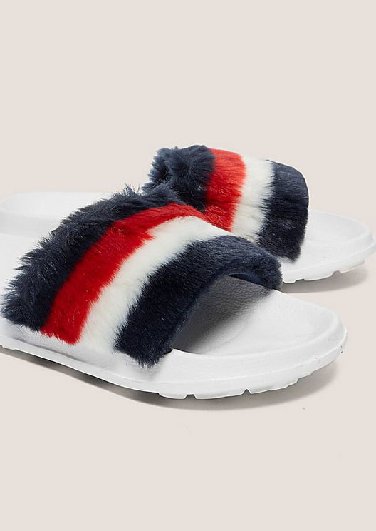 Tommy Hilfiger's faux fur slides are the stuff of fluffy dreams