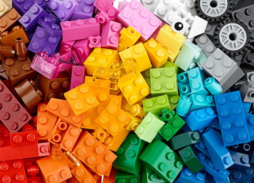 Lego bricks rainbow
