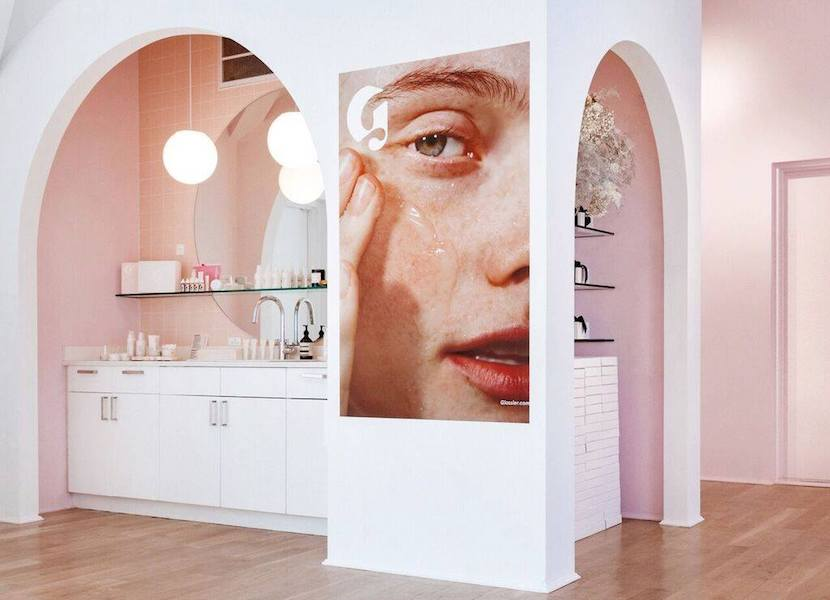 Glossier NYC flagship store