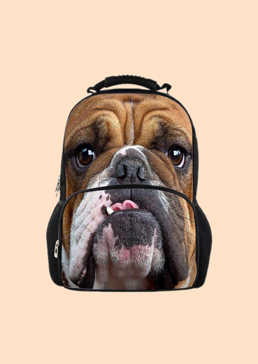 Wear your fave breed with pride thanks to these dog-covered backpacks
