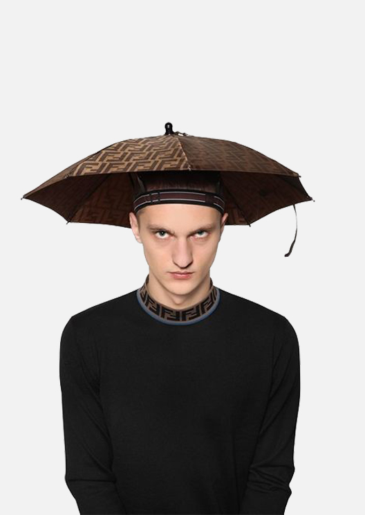 Conquer winter with Fendi's ultra-practical umbrella hat
