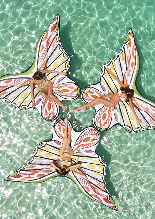 Missoni teams up with Funboy to create butterfly pool floats