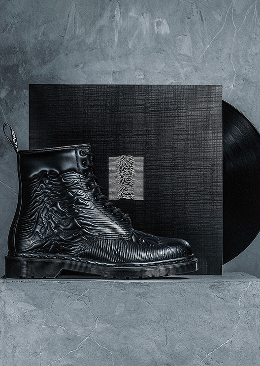 Dr. Martens' latest boot is covered in Joy Division album artwork