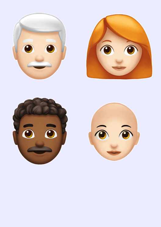 Apple reveals 70 new emojis including red, curly and grey hair
