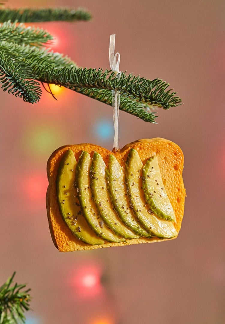 An avocado on toast Christmas ornament exists and it's every millennial's dream