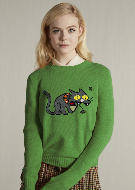 Miu Miu's new jumpers honour Snowball II and other animated cats