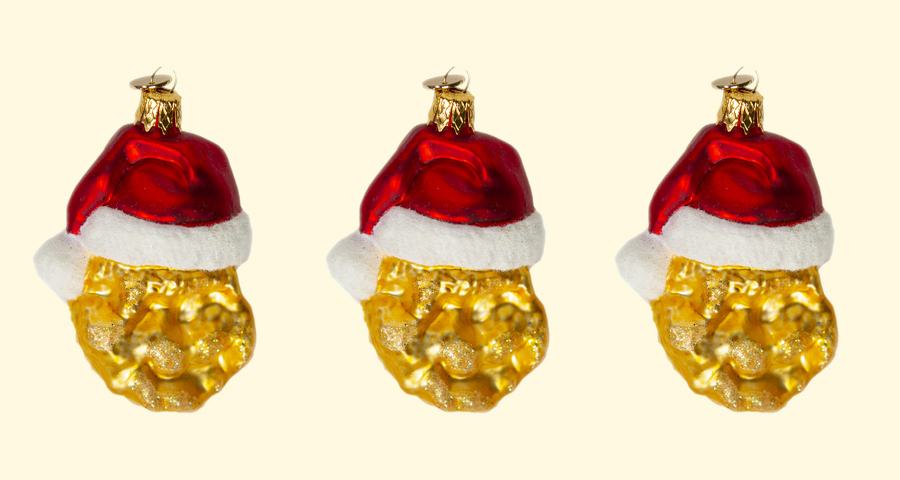 All we want for Christmas are these chicken nugget ornaments from McDonald's