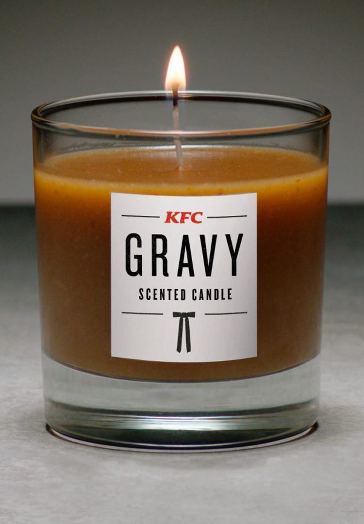 KFC has released its very own gravy-scented candle to spruce up your home