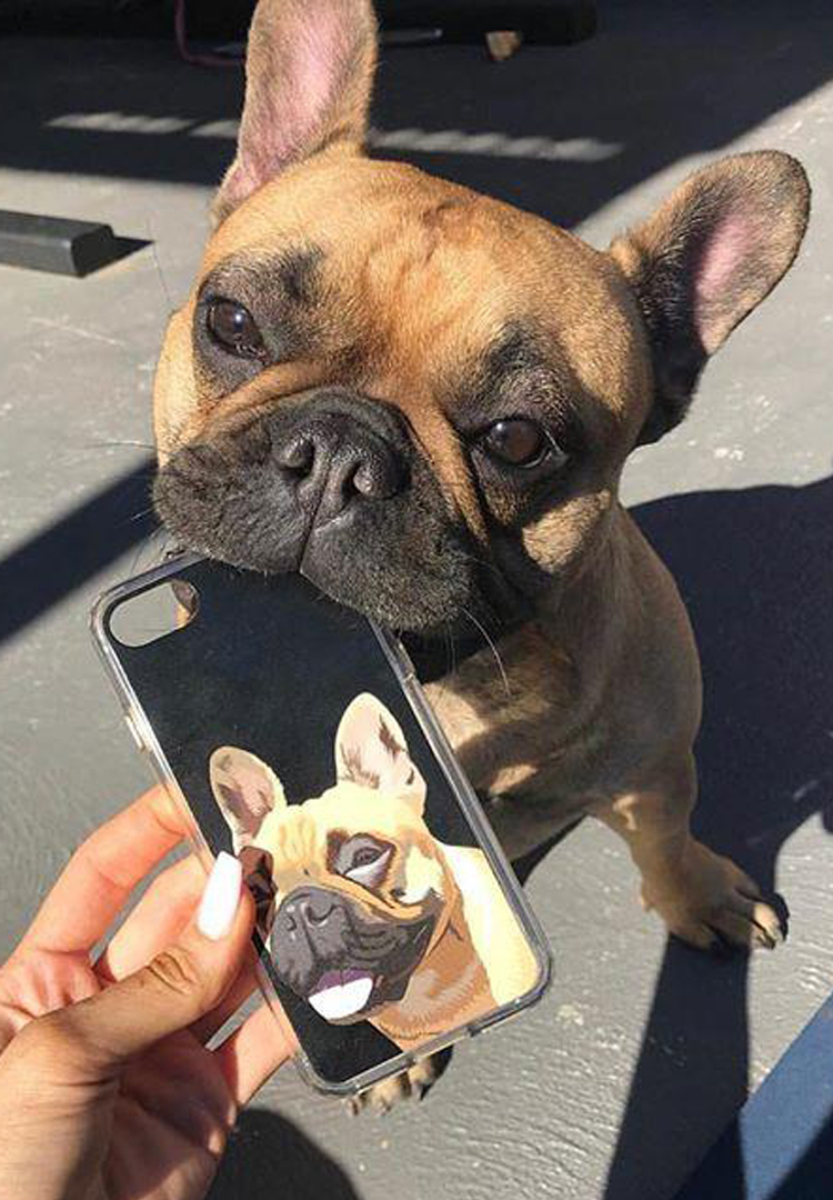 You can now get your dog's face printed on your phone case