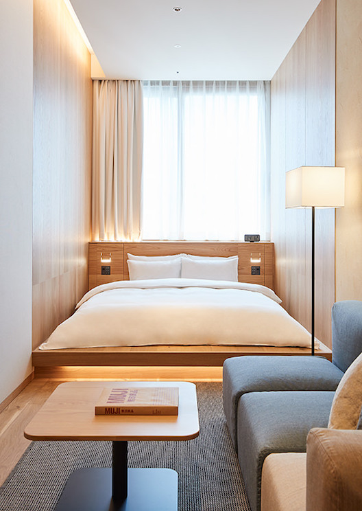 Take a peek inside MUJI's first hotel in Japan