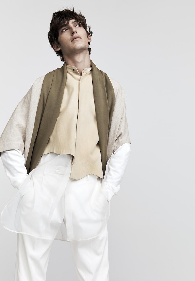 Akira Isogawa shirt, Jac+ Jack top, P Johnson pants from Suit Shop