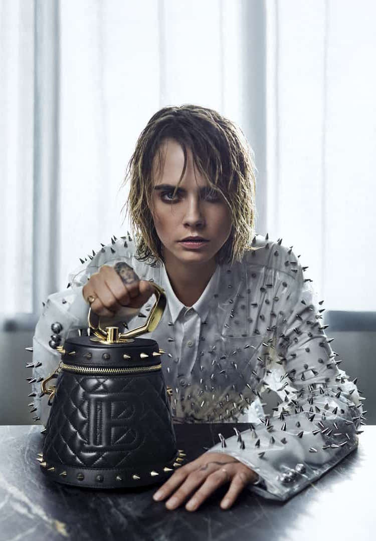 Balmain teams up with Cara Delevingne on a handbag collection