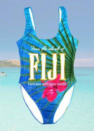 Tell the world you're too fancy for tap water with Fiji Water bathers