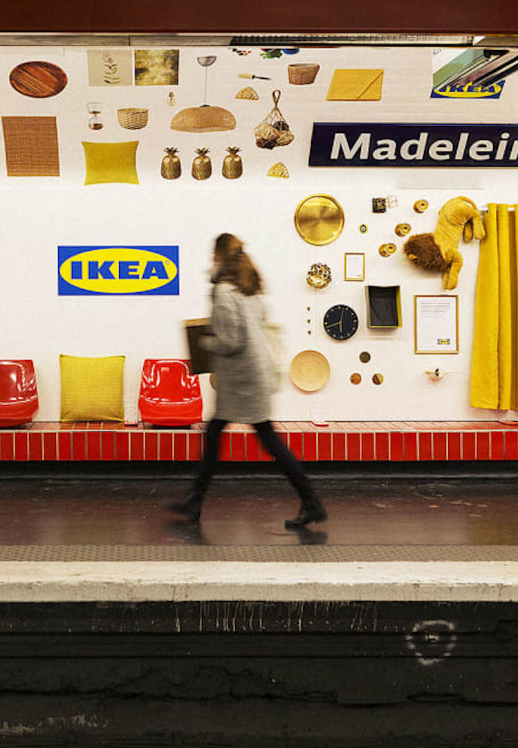 IKEA turned this subway station into a pop-up showroom