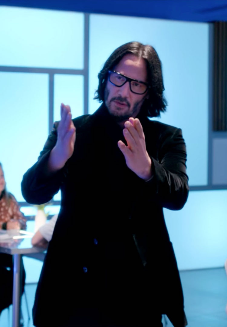 This Twitter account pairs slow-mo clips of Keanu Reeves with music and it's magical