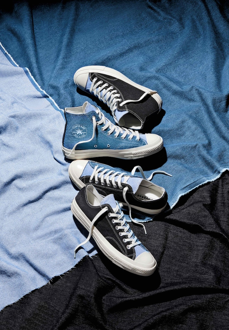 Converse plays around with upcycled denim for the Renew Tri Panel collection