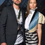 We need to talk about JT and Jessica Biel's outifts at the Louis Vuitton show