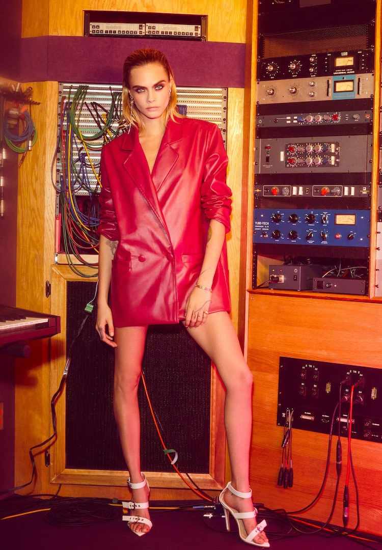 The Cara Delevingne x Nasty Gal collab was shot in Jimi Hendrix's studio