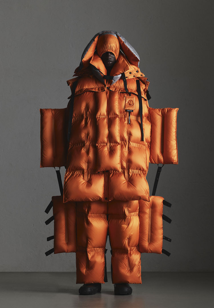 Moncler's new puffers look like aeroplane escape slides