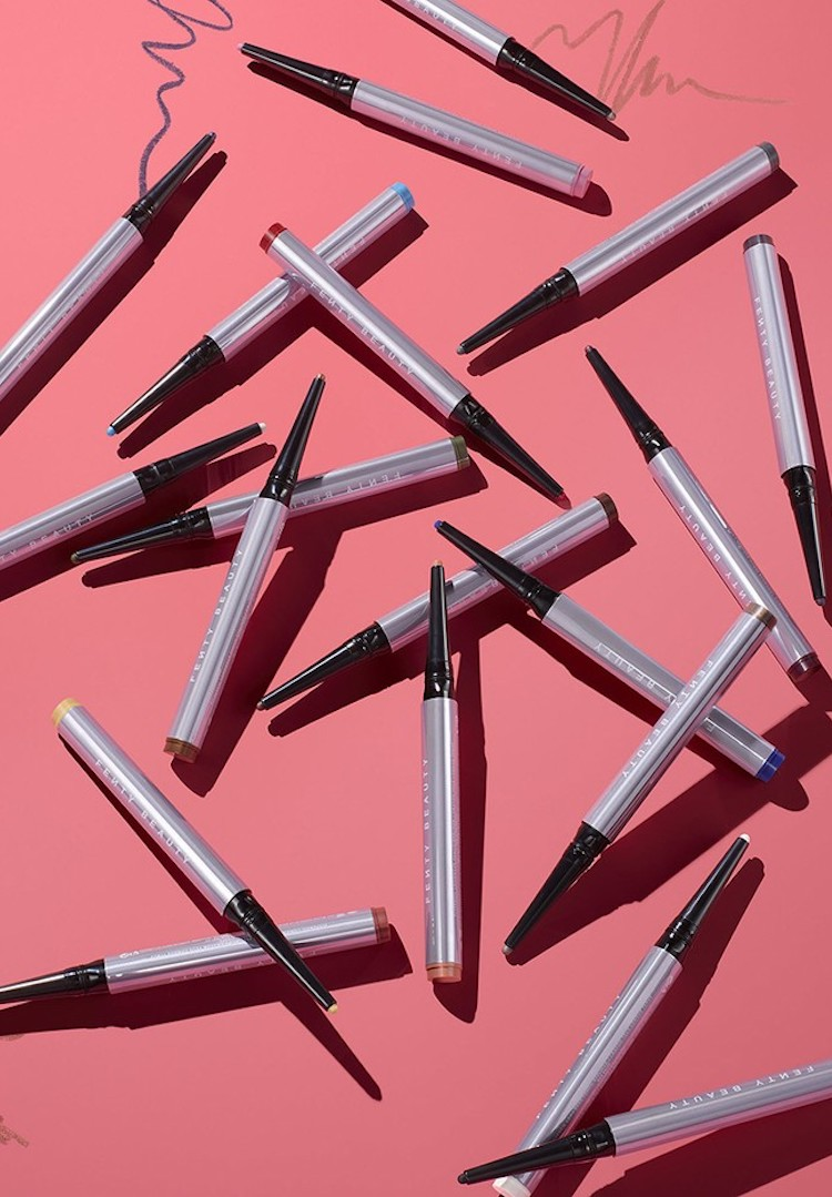 Fenty Beauty drops its first coloured eyeliner pencil, and obviously the shade range is next level