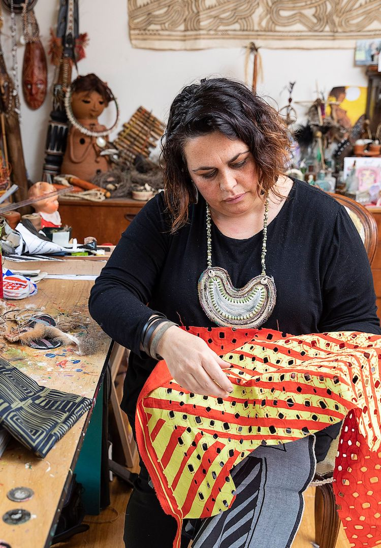 You can tour Lisa Waup's studio as part of the NGV's Reconciliation Week program