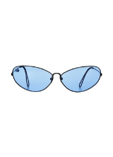 POMS Ello Sunglasses Black and Blue with Blue Opal from THE NINETY NINE