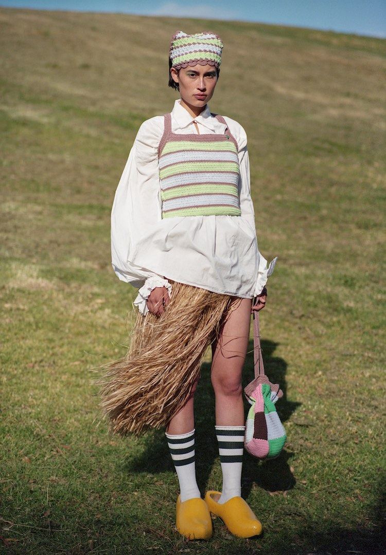 Australian label Poms' debut knitwear collection is a tribute to slow craft and strong women