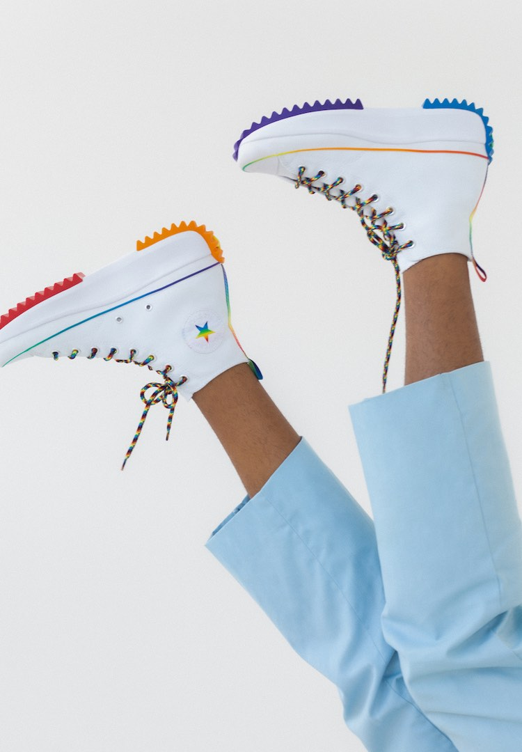Converse has partnered with its LGBTQIA+ community to create a new Pride collection that celebrates coming out