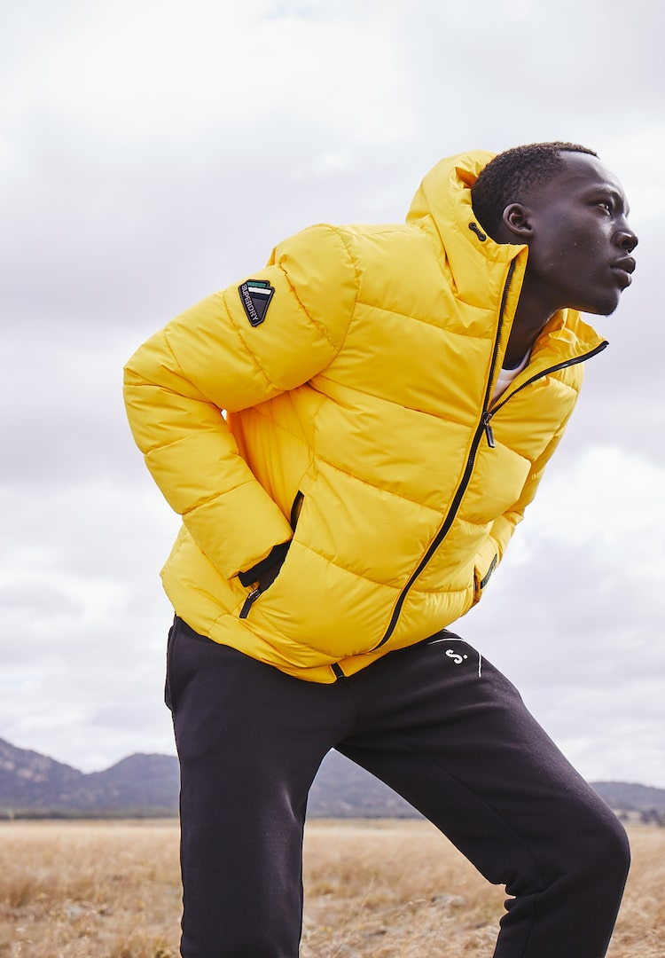 Superdry's latest puffer range is made from recycled plastic bottles