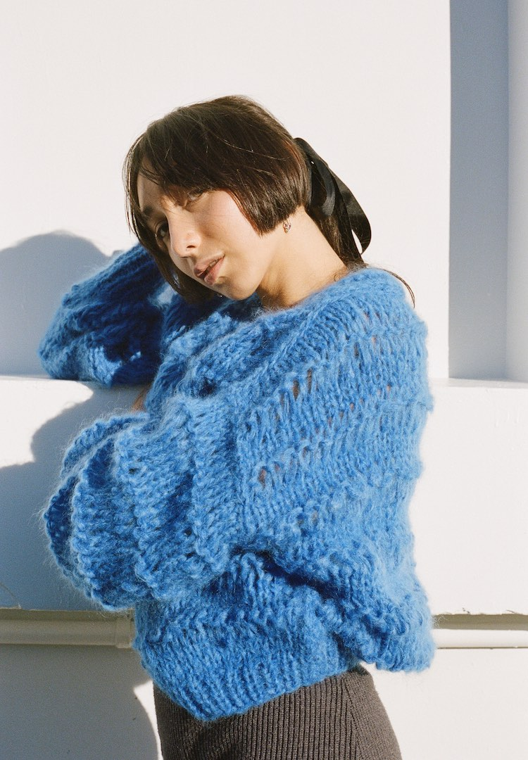 New Zealand label Frisson Knits is taking over Instagram, one mohair jumper at a time