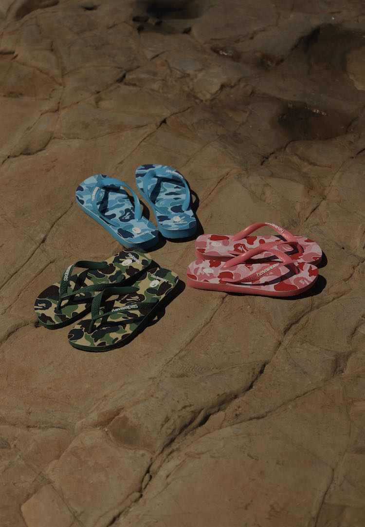 Not your dad's camo: The Bape® x Havaianas collaboration is here